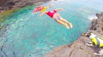 Cliff Dive with Ocean Safaris Kayak Adventure