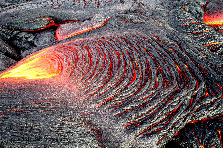 Pāhoehoe Lava in Hawai'i