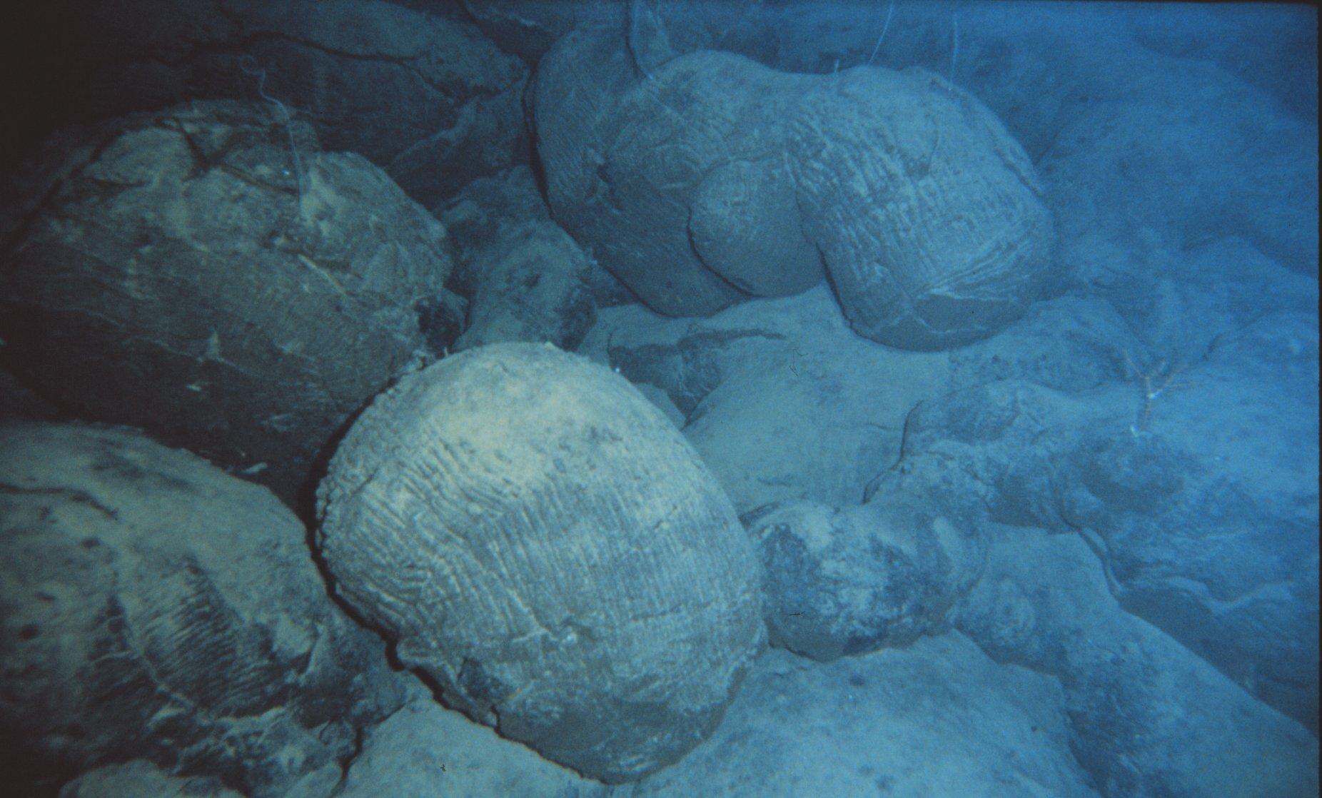 Lava on the ocean floor